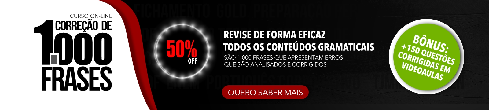 [Black Friday 1000 Frases 50%]