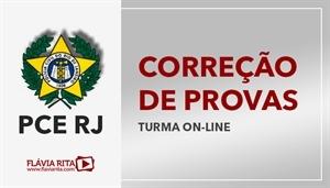 [Curso on-line de Exercícios/Correção de Provas para o concurso da Polícia Civil do Rio de Janeiro - PCRJ - Instituto AOCP - Professora Flávia Rita]