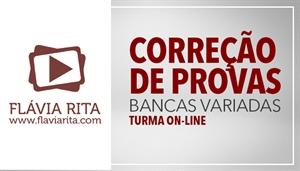 [Curso on-line de Correção de Provas Bancas Variadas - Professora Flávia Rita ]
