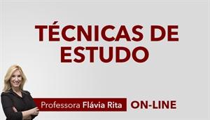 [Curso on-line: Técnicas de estudo para concursos - Professora Flávia Rita]