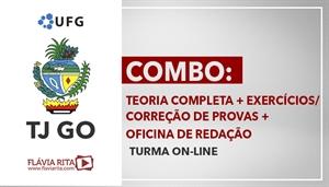 [Curso On-line de Português para Concursos - COMBO: Teoria Completa + Exercícios/Correção de Provas + Oficina de Redação para o concurso do Tribunal de Justiça de Goiás - TJGO/ UFG - Professora Flávia Rita]