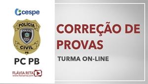[Curso on-line de Exercícios/Correção de Provas para o concurso da Polícia Civil da Paraíba - PCPB/ CESPE - Professora Flávia Rita]