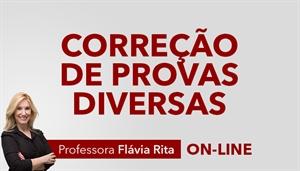 [Curso on-line: Português - Correção de provas diversas para concursos - Professora Flávia Rita]