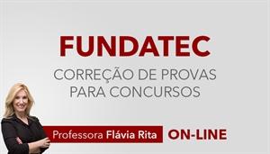 [Curso on-line: Português - Correção de Provas para concursos da banca FUNDATEC - Professora Flávia Rita]