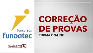 [Curso on-line de Exercícios/Correção de Provas para concursos da banca FUNDATEC]