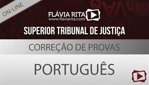 Curso on-line: Português – Correção de Provas para Concurso – CESPE/STJ – Todos os Cargos – Professora Flávia Rita