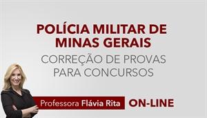[Curso on-line: Português - Correção de provas para concursos da Polícia Militar de Minas Gerais - PMMG - Professora Flávia Rita]