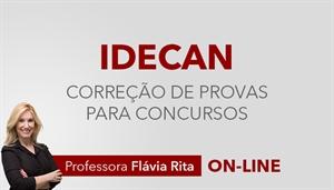 [Curso on-line: Português - Correção de Provas de concursos da banca IDECAN - Professora Flávia Rita]