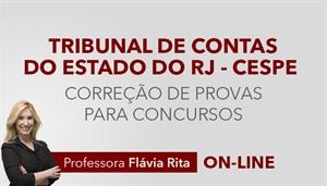 [Curso on-line: Português - Correção de Provas para o concurso do Tribunal de Contas do Estado do Rio de Janeiro - TCE RJ / CESPE - Professora Flávia Rita]