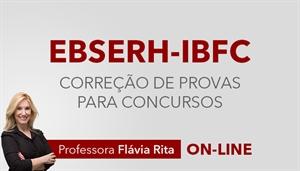 [Curso on-line: Português - Correção de Provas para concurso da EBSERH - IBFC - Professora Flávia Rita ]
