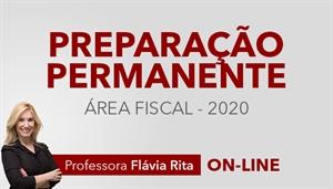 [Curso on-line Preparação Permanente para Concursos da Área Fiscal - Professora Flávia Rita]