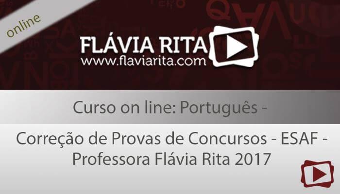 Curso on-line: Português - Correção de Provas de Concursos - ESAF - Professora Flávia Rita