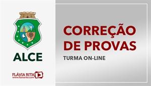 [Curso on-line de Exercícios/Correção de Provas para concursos da Assembleia Legislativa do Ceará - ALE CE - CEBRASPE/CESPE - Professora Flávia Rita]